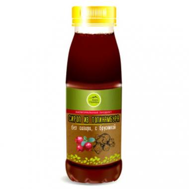 Натуральный сироп из топинамбура без сахара с брусникой, 330 г